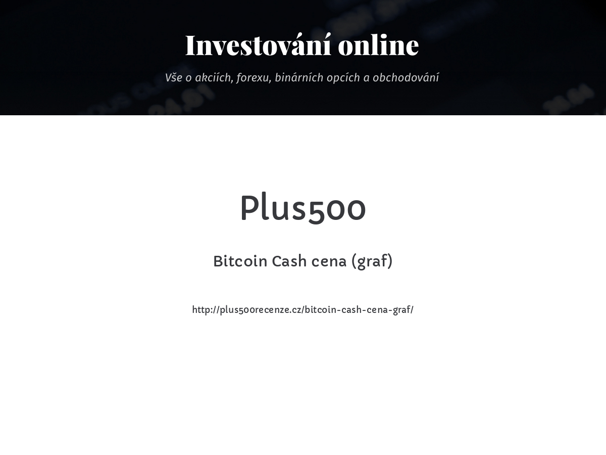 Bitcoin Cash cena (graf)