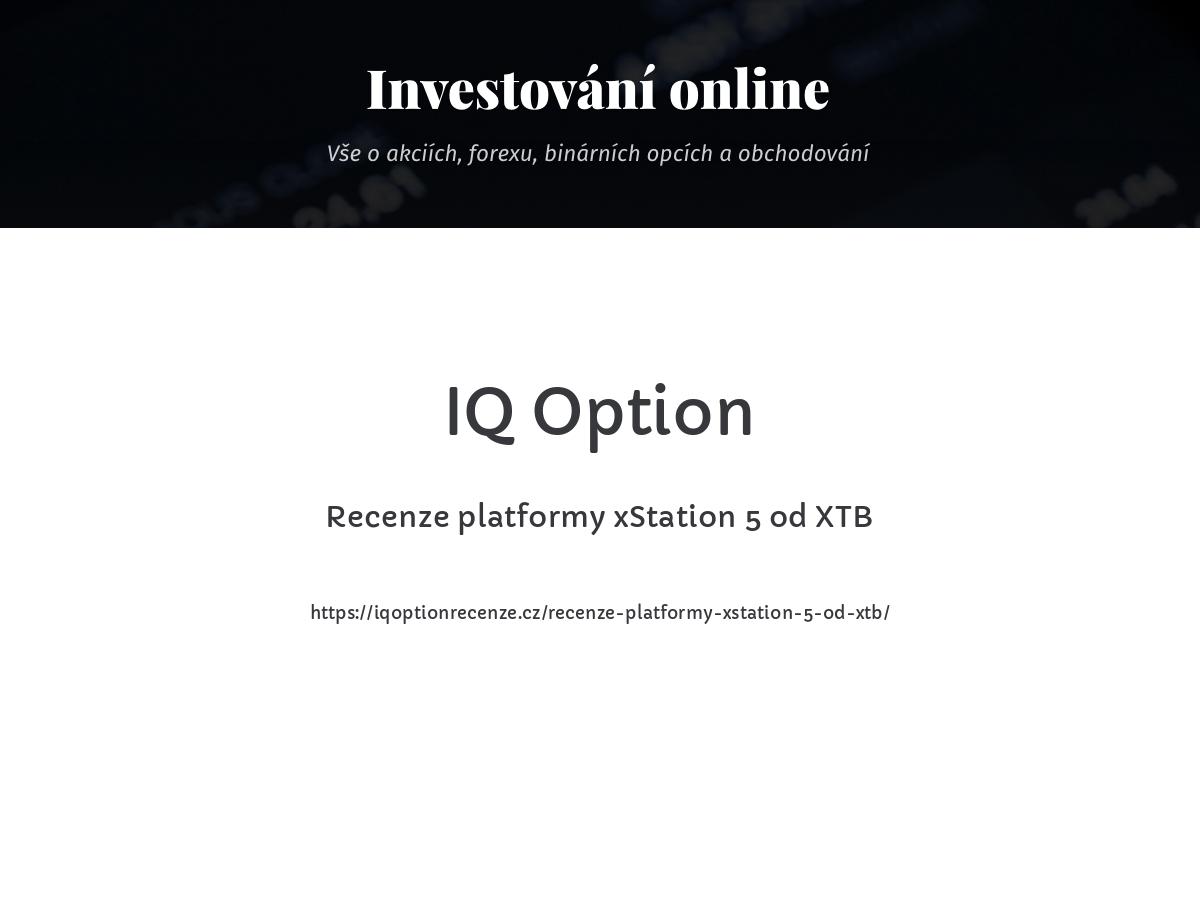 Recenze platformy xStation 5 od XTB