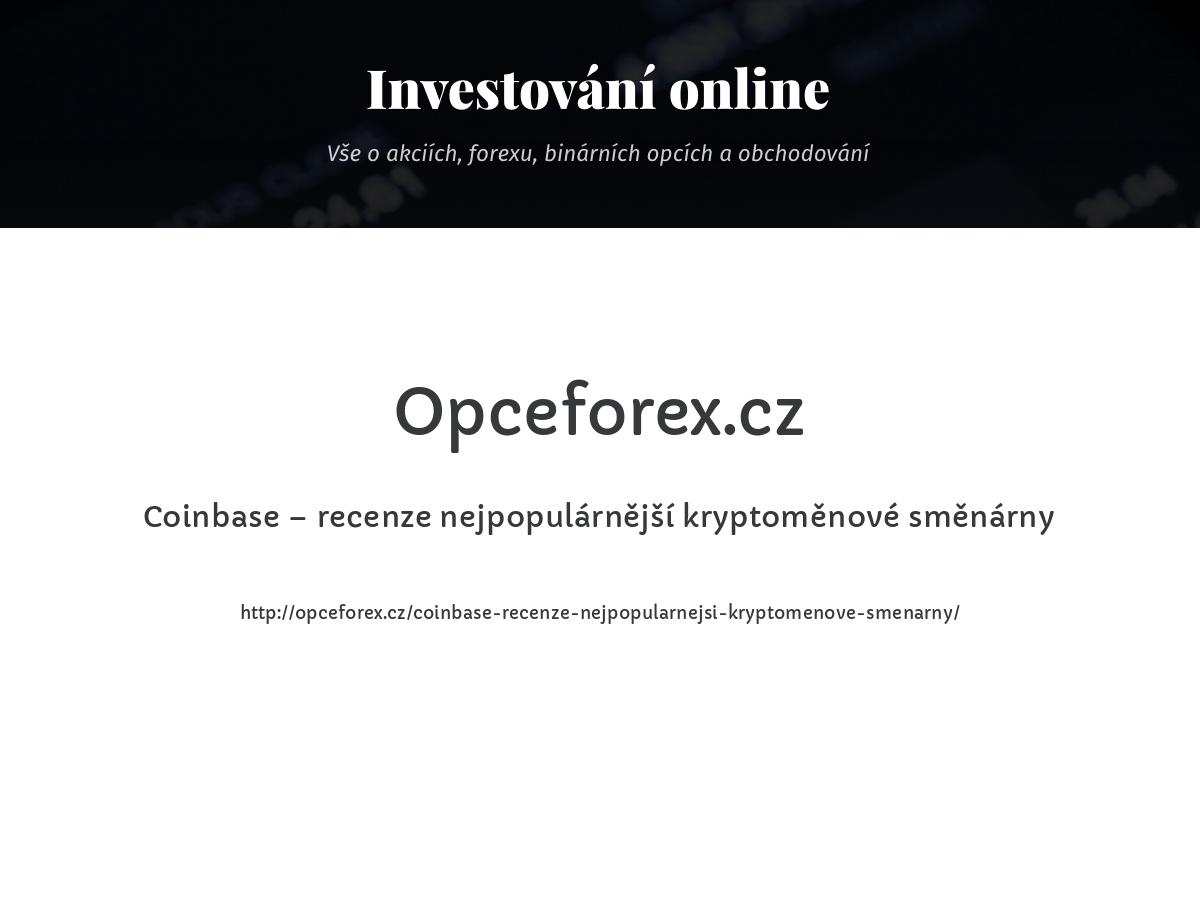 Coinbase – recenze nejpopulárnější kryptoměnové směnárny